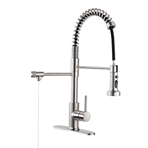 Drinking Water Faucet, PAKING PB1017 Kitchen Faucet, Kitchen Sink Faucet, Water Filtration Faucet, Sink Faucet, Pull-down Kitchen Faucets, Bar Water Filter Faucet, Brushed Nickel, Stainless Steel