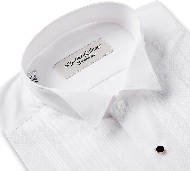Rael Brook Camisa de vestir con cuello de ala de doble puño ...