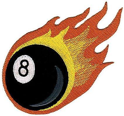 Bola de billar billiard Negro 8/Ball parche plancha de planchar Iron on patches applikation