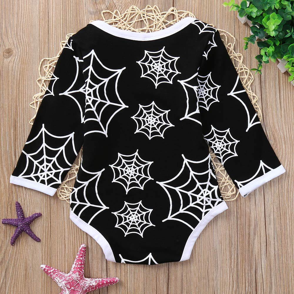 Toddler Halloween Clothing Boys,MONsin Halloween Toddler Baby Girls Boys Spider Web Print Romper Bodysuits Outfits