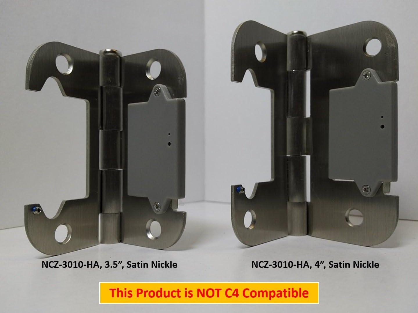 "NYCE NCZ-3010-1-HA Door Hinge Sensor - 3.5"", Satin Nickel Finish"