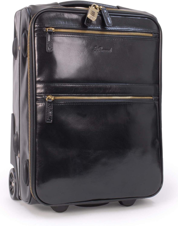 Ashwood - 79014 - Bolso de Viaje con Ruedas - Mango telescópico- Cuero -Negro