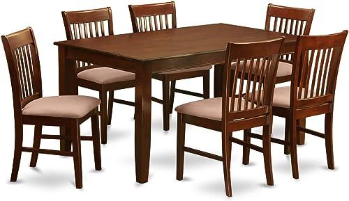 DUNO7-MAH-C 7 PC Dinette Table'set