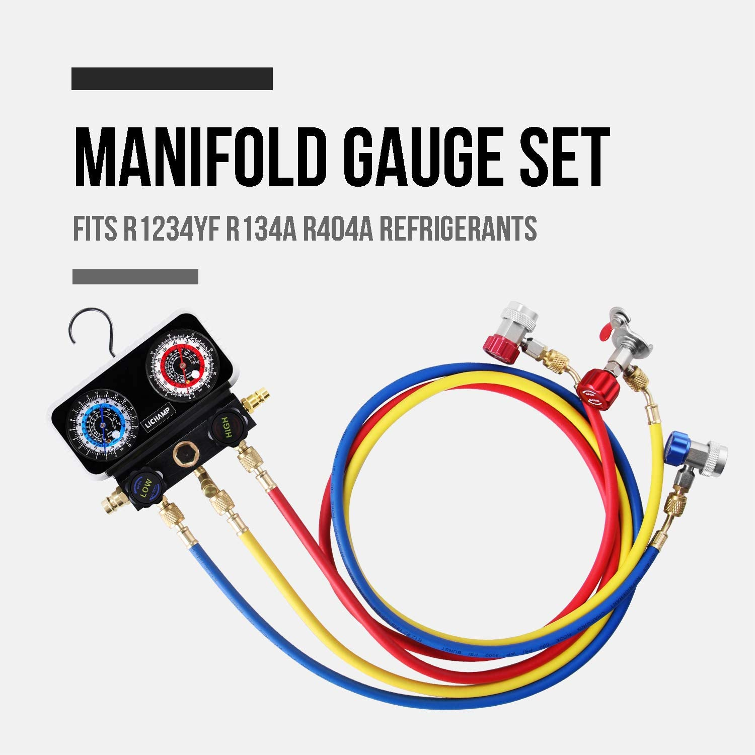Gauges Works on Car Freon Charging and Evacuation Automotive 4 ...