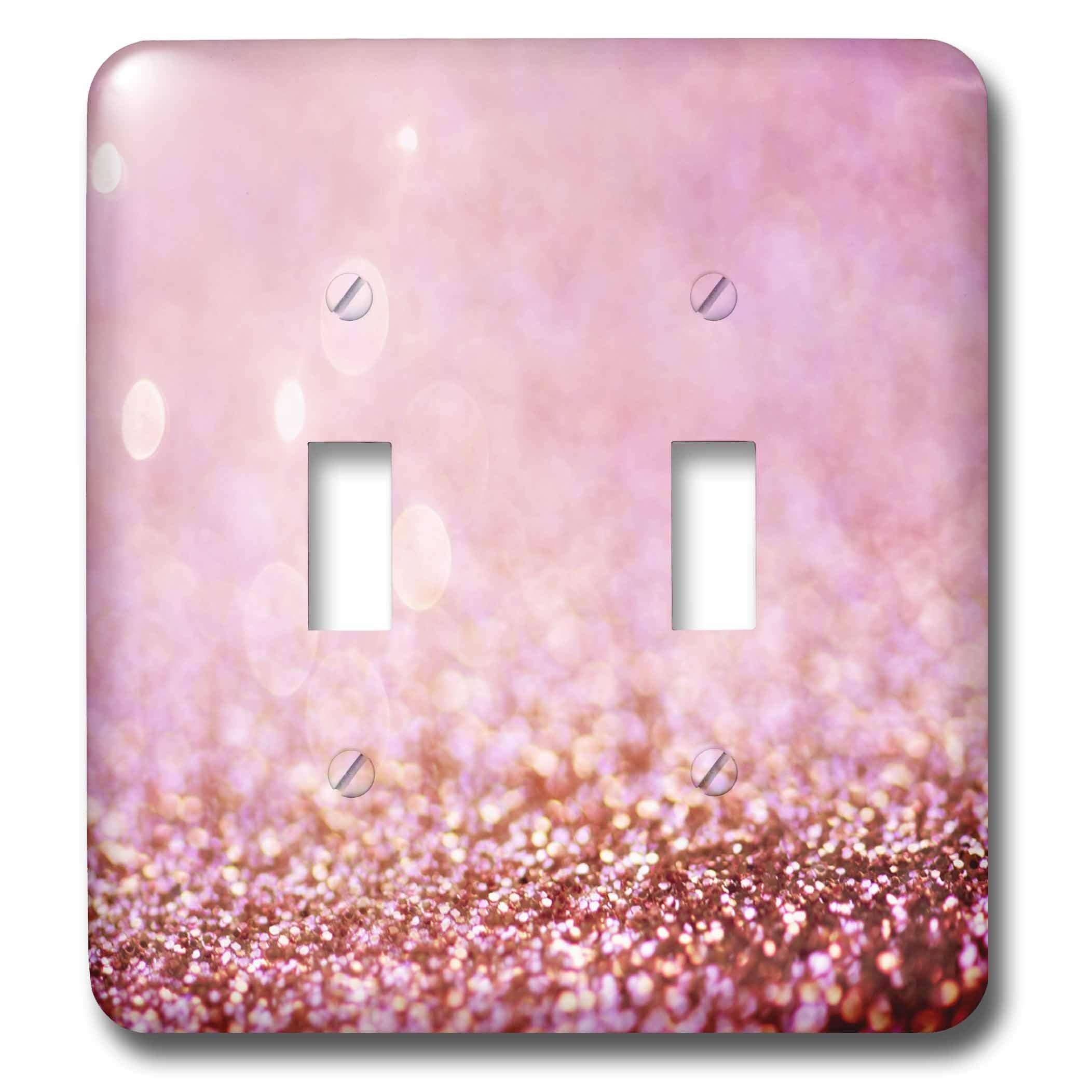 3dRose LSP_272846_2 Sparkling Rose Gold Pink Luxury Shine Girly Elegant Mermaid Glitter Toggle Switch,