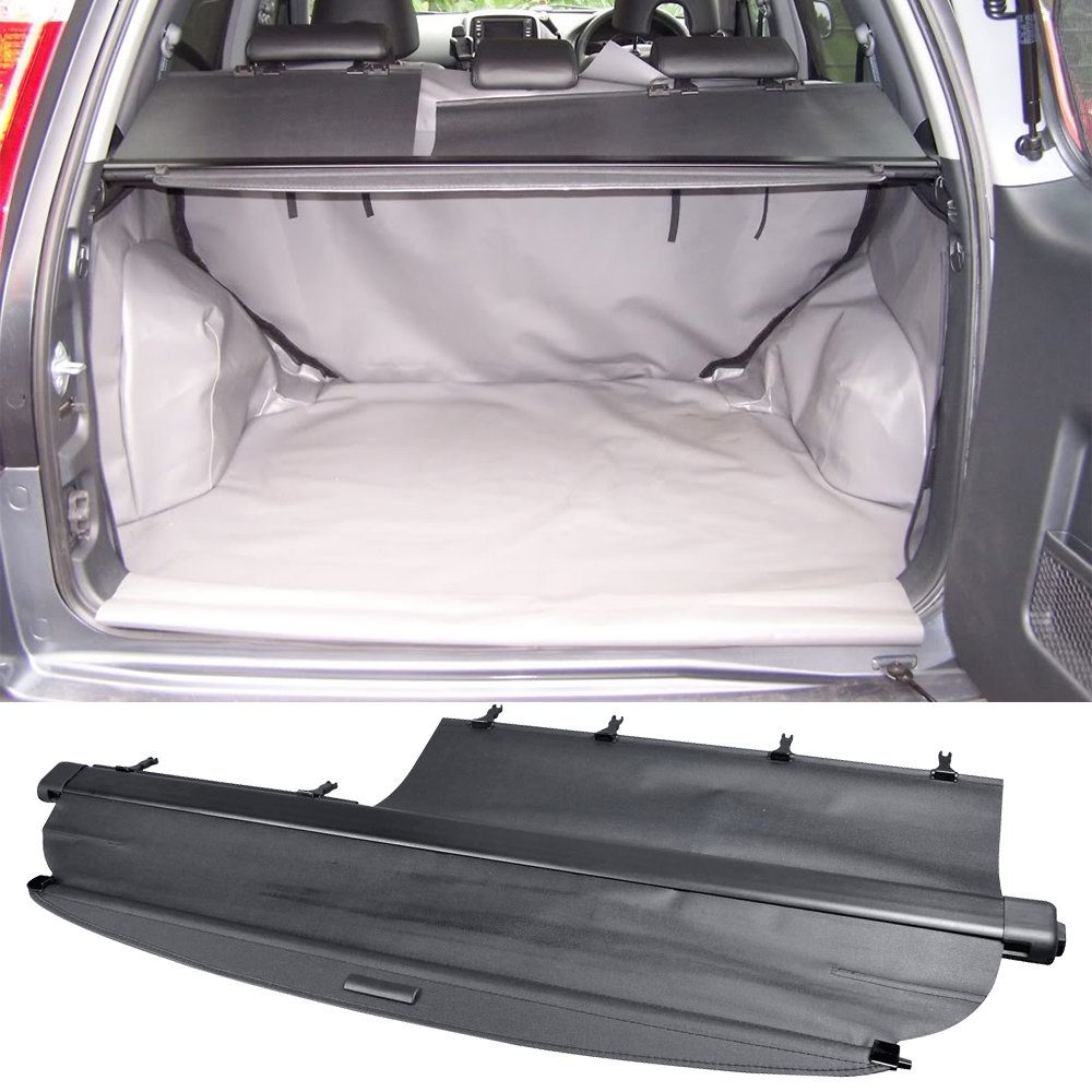 2003 2004 2005 Oem Style Unpainted Black Luggage Cover Trunk Liner Privacy Shade By Ikon Motorsports Cargo Cover Fits 2002 2006 Honda Crv Rear Deck Covers Automotive