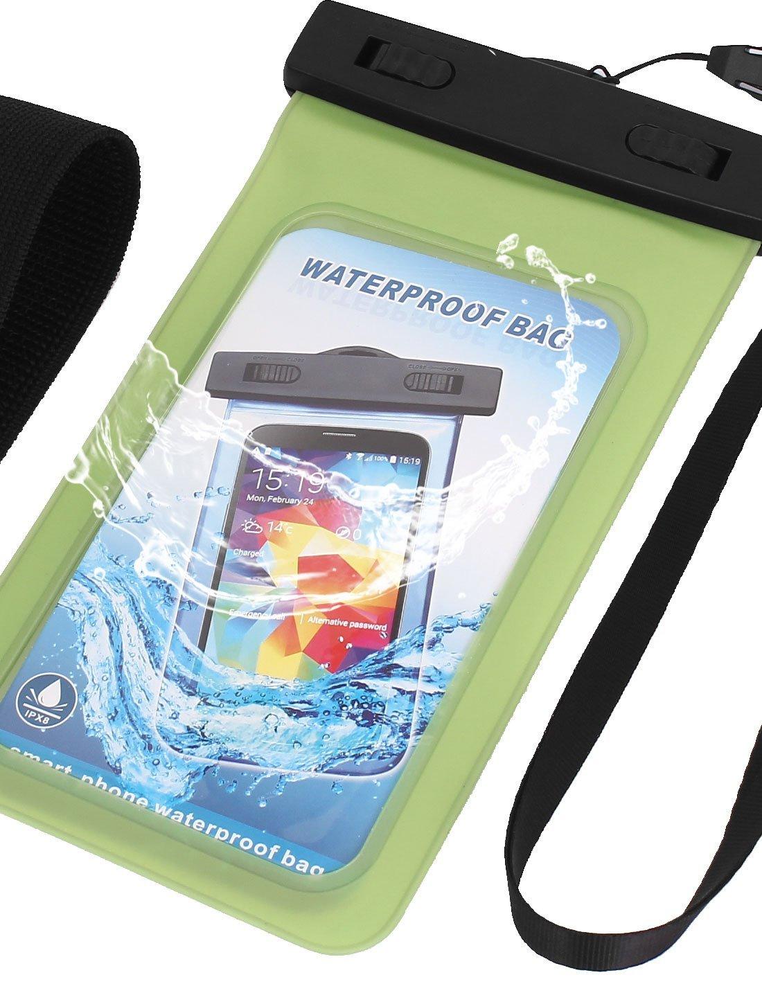 Amazon.com : eDealMax A prueba de agua cubierta de la caja del bolso seco de la Bolsa Verde w brazalete Para el teléfono celular : Sports & Outdoors