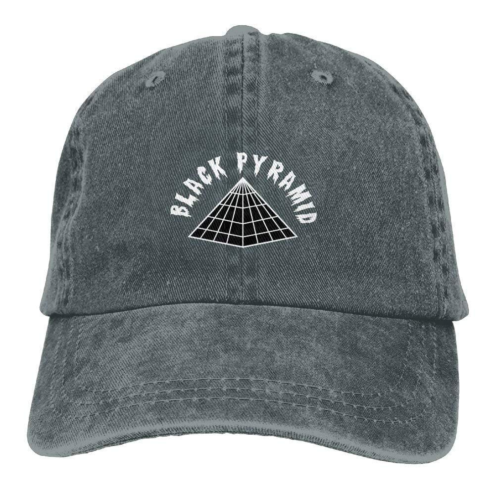 JTRVW Black Pyramid Logo Adjustable Baseball Caps Denim Hats Cowboy Sport Outdoor