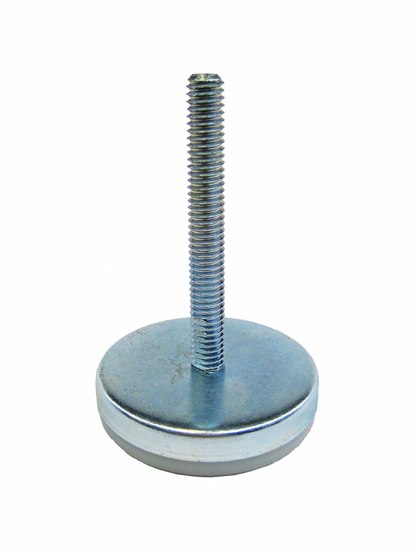 J.W. Winco Glide-Rite WG-016 Series IIG Steel Threaded Stud Type Industrial Glide, Inch Size, 5/8-11 Thread Size, 4' Thread Length, 3.187' Base Diameter 4 Thread Length 3.187 Base Diameter Inc.