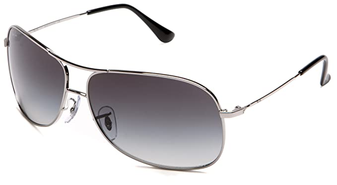 6aa9fd03a54c Amazon.com: Ray-Ban RB3267 - SILVER Frame GRAY GRADIENT Lenses 64mm ...