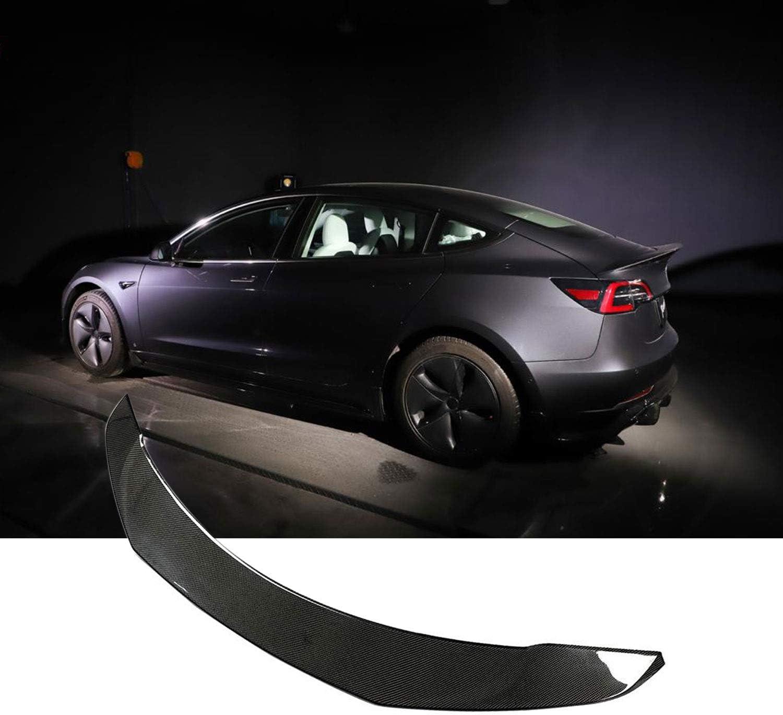 TGFOF Real Carbon Fiber Spoiler for Tesla Model 3 Spoiler Sedan 2016-2019 Rear Carbon Fiber Car Trunk High-Kick Tail Spoiler Wing Lip Tesla Model 3 Accessories