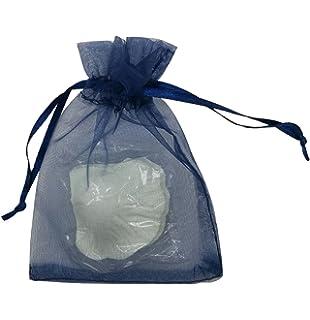 KINGWEDDING 50pcs Royal Blue Organza Drawstring Pouches Jewelry Party Wedding Favor Gift Bags 6X9
