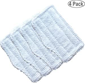 RAYSUN 4PCS Washable Microfiber Steam Mop Pads Replacement for Shark Steam Mop S3101 S3102 S3250 S3251 SK115 SK140 SK141 SK410 SK435 SK435CO SK460 SS460D SS460WM -White