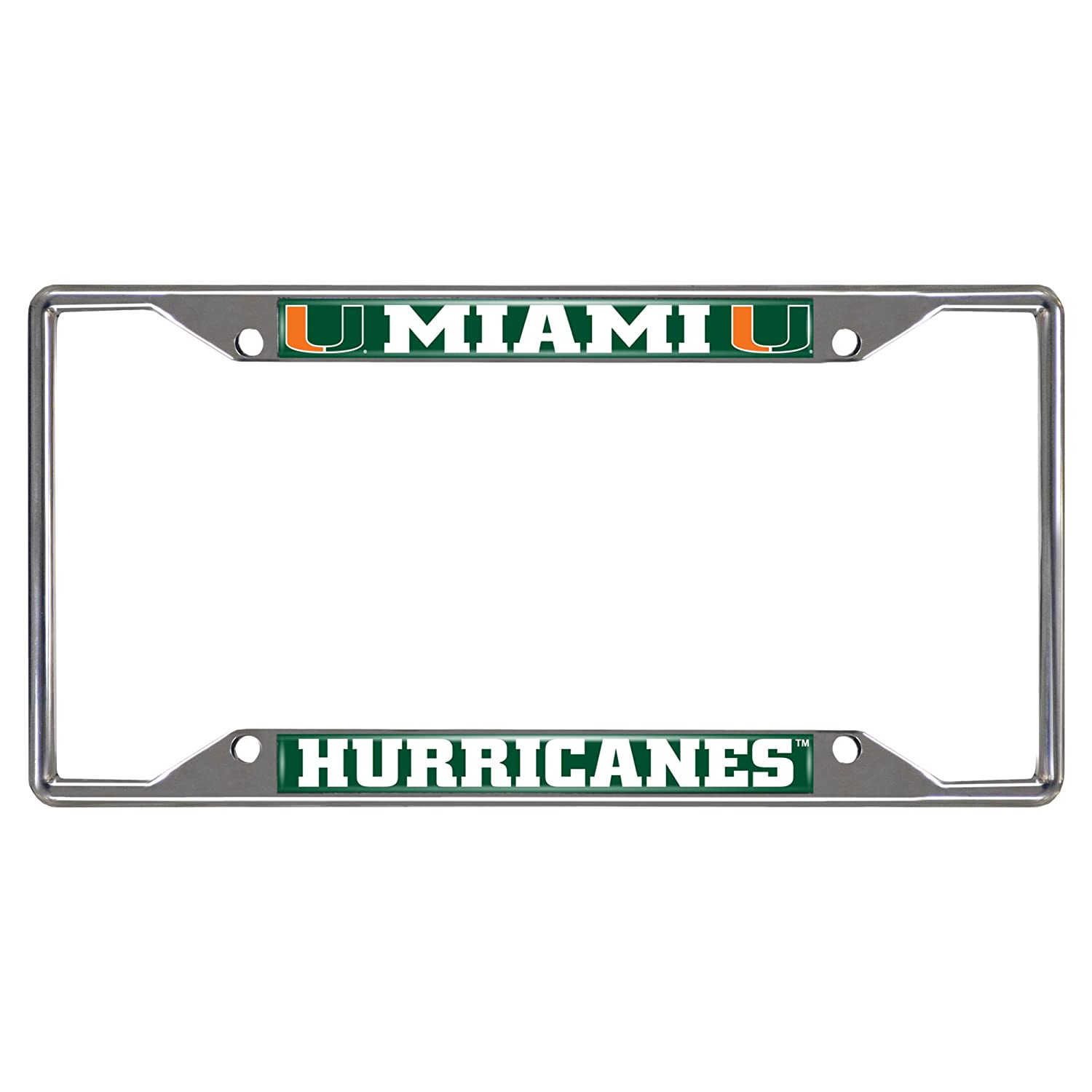 FANMATS NCAA University of Miami Hurricanes Chrome Hitch Cover 15082