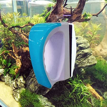 Kedsum - Cepillo magnético limpiacristales para acuario color azul.: Amazon.es: Productos para mascotas
