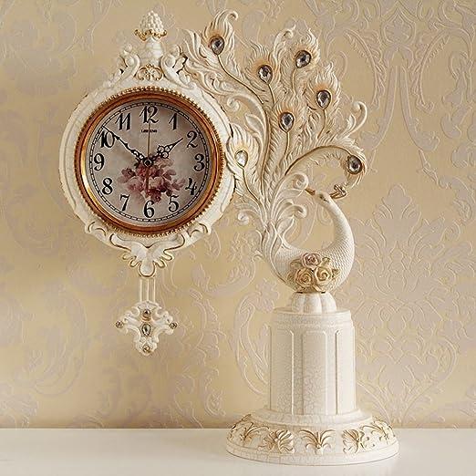 Reloj de escritorio Reloj creativo de la sala de estar retro reloj ...
