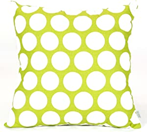 Majestic Home Goods Large Polka Dot Pillow, X-Large, Hot Green