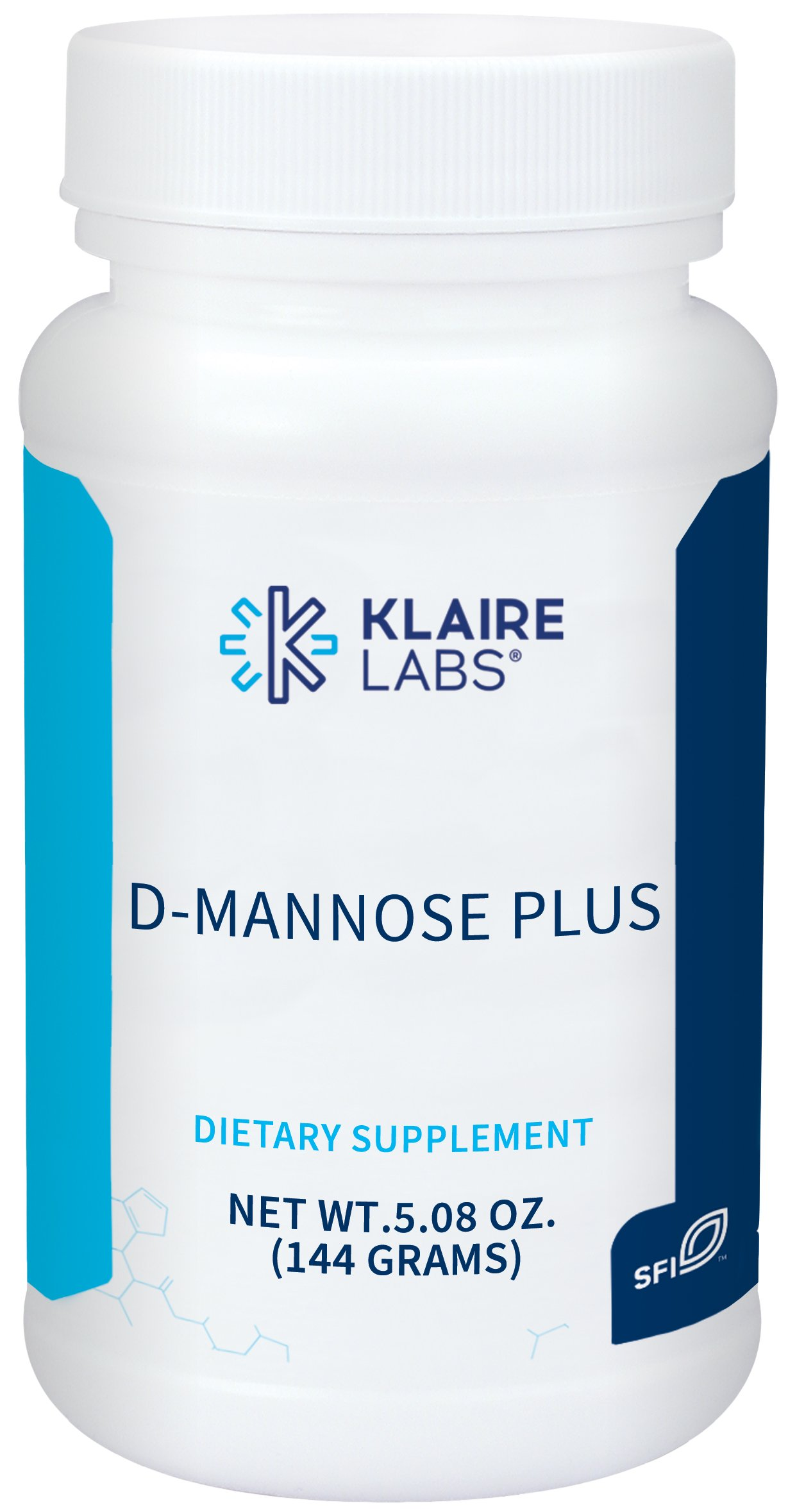 Klaire Labs (Complementary Prescriptions) D-Mannose Plus Powder with Cranberry & Vitamin C (5 Oz)
