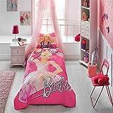 %100 Cotton Disney Barbie Ballerina Kid's Bedspread Set Single / Twin Size Kids Bedspread