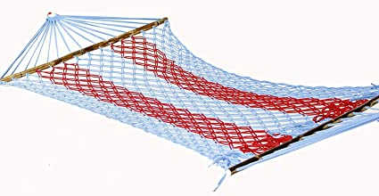 NOVICZ Hanging Nylon Rope Bed Hammock Swing for Travel Camping (Multicolour,250 cm,XL)