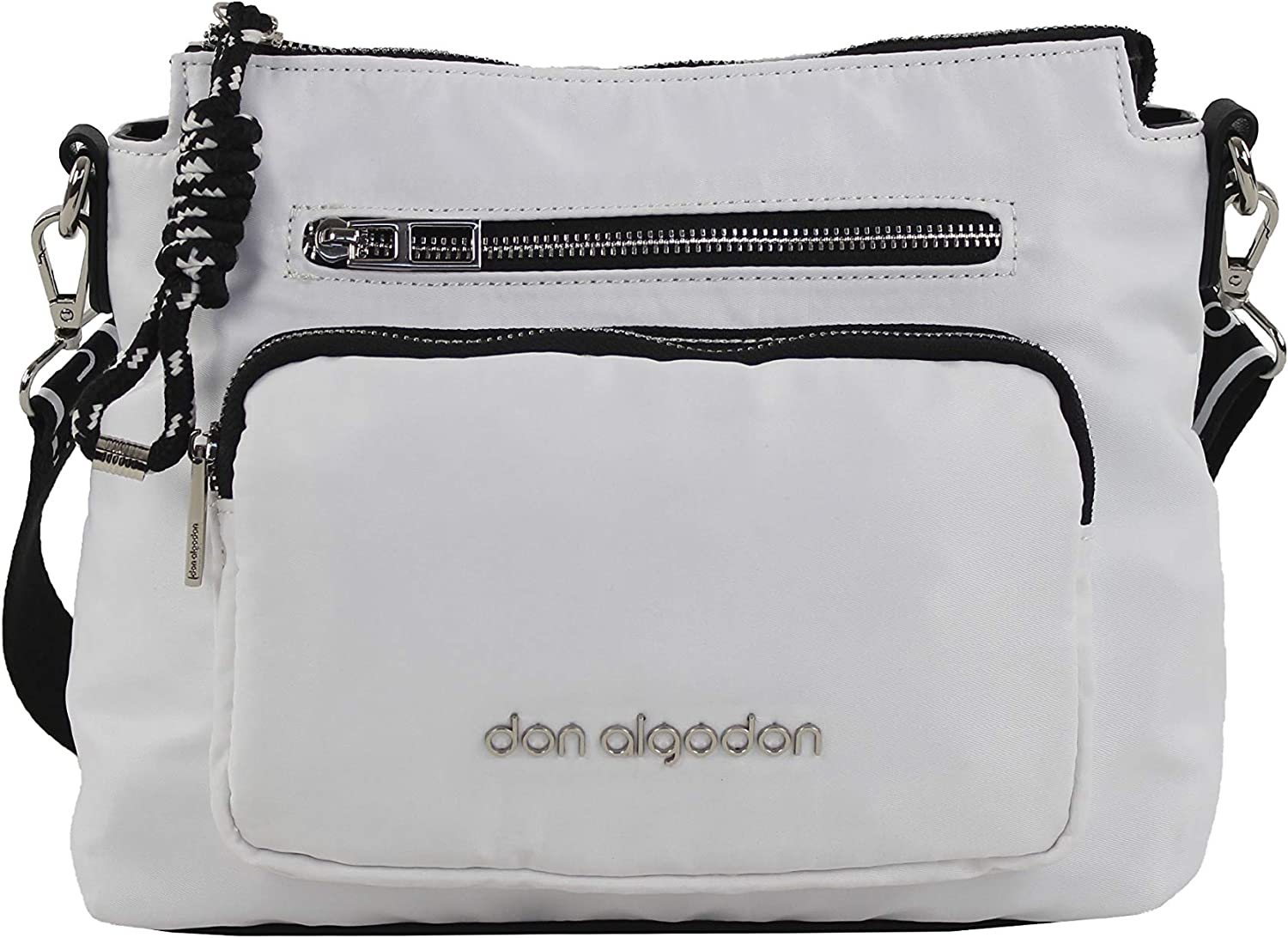DON ALGODON Casual, Bandolera XL, Blanco: Amazon.es: Equipaje