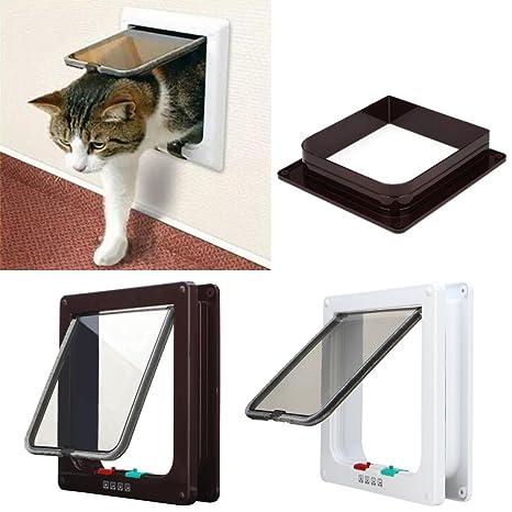 Marco para puerta para entrada y salida de gatos o perros pequeños