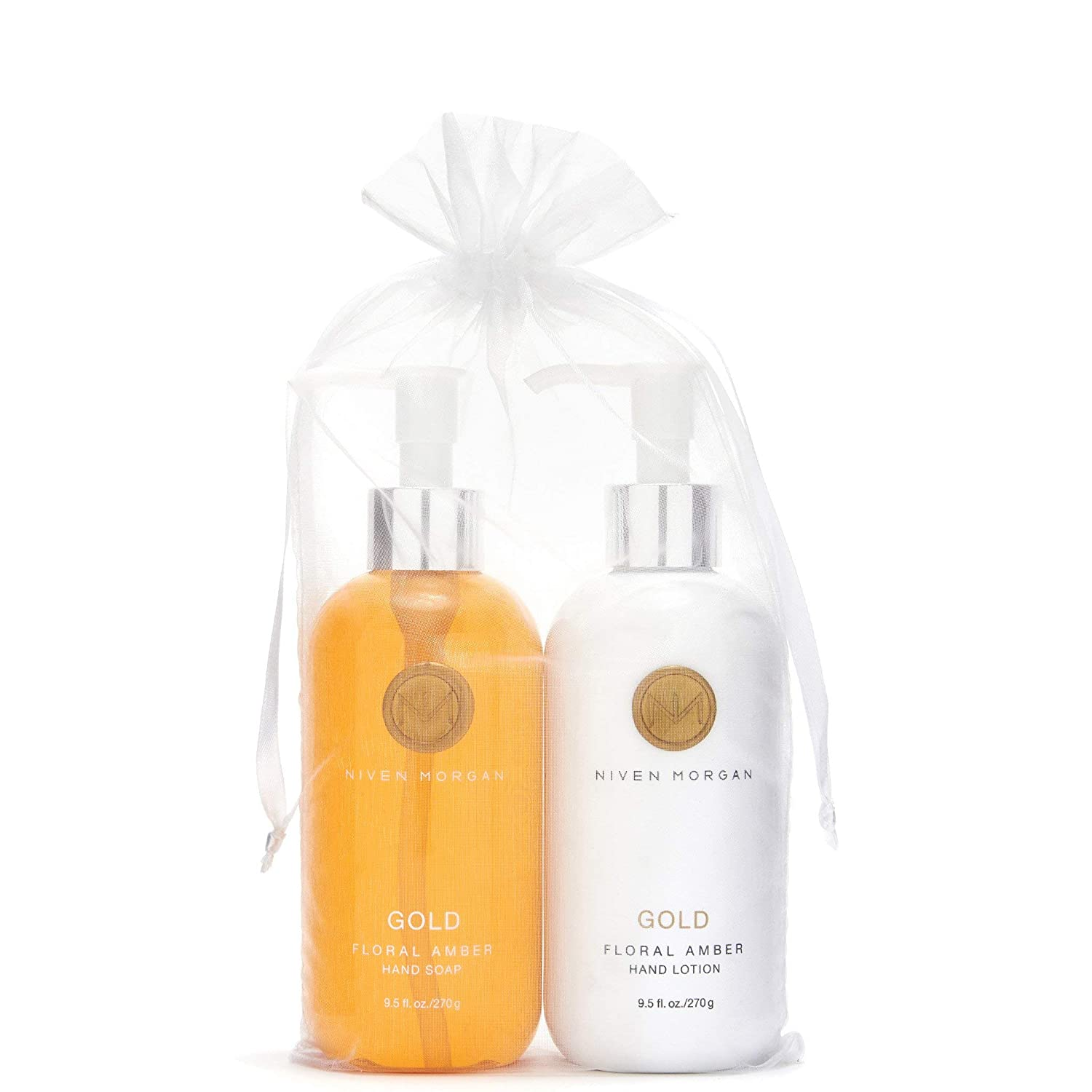 Niven Morgan Gold Hand Soap & Lotion Set 9.5 oz.
