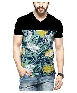STYLENSE Men's Half Sleeve V-Neck Cotton T-Shirt - Multicolor