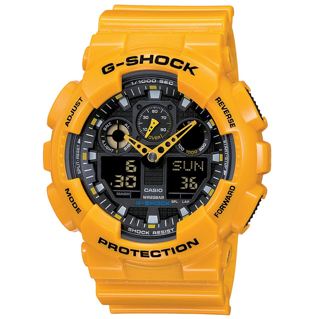 Casio G-Shock Analog-Digital Black Dial Men s Watch – GA-100A-9ADR G273