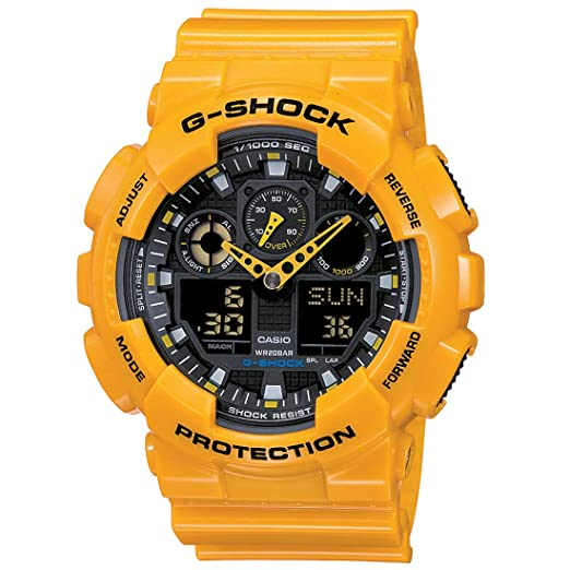 9ae13637aed8 Buy Casio G-Shock Analog-Digital Black Dial Men s Watch - GA-100A-9ADR  (G273) Online at Low Prices in India - Amazon.in