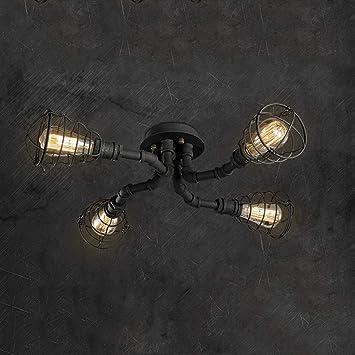 Amazon Com Xhjjdj Industrial Deck Ceiling Light 8 Lamp Holder