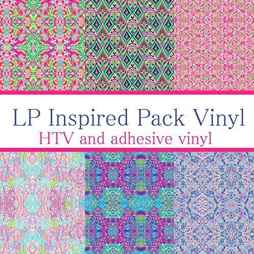 Vinyl Boutique Shop Craft vinyl lilly p inspired vinyl PACK 1, PACK OF 6 VINYL, lilly monogram,lilly inspired,lilly vinyl,htv vinyl,vinyl rolls lilly p, LP-PK-1