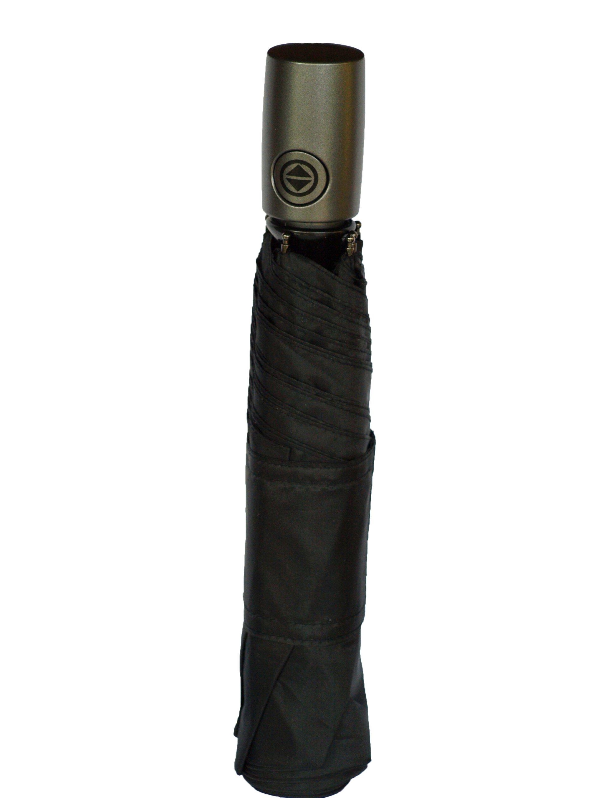Totes Auto Open Auto Close Umbrella w/ Grey Handle (Black)