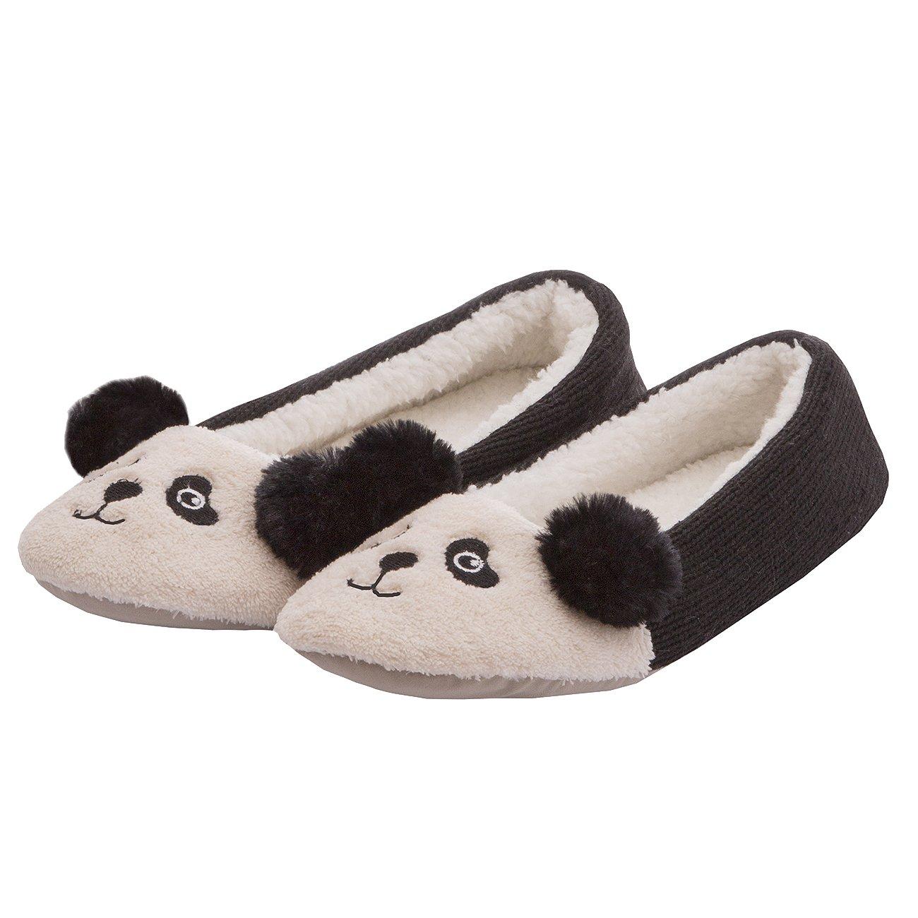 e6daf131de23 Forever Dreaming Ladies Womens Novelty Faux Fur Animal Panda Unicorn Slipper  Indoor Textile Sole  Amazon.co.uk  Shoes   Bags