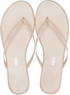 2a4d342497304 TKEES Women s Foundations Shimmer Leather Thong Sandals Flip Flops
