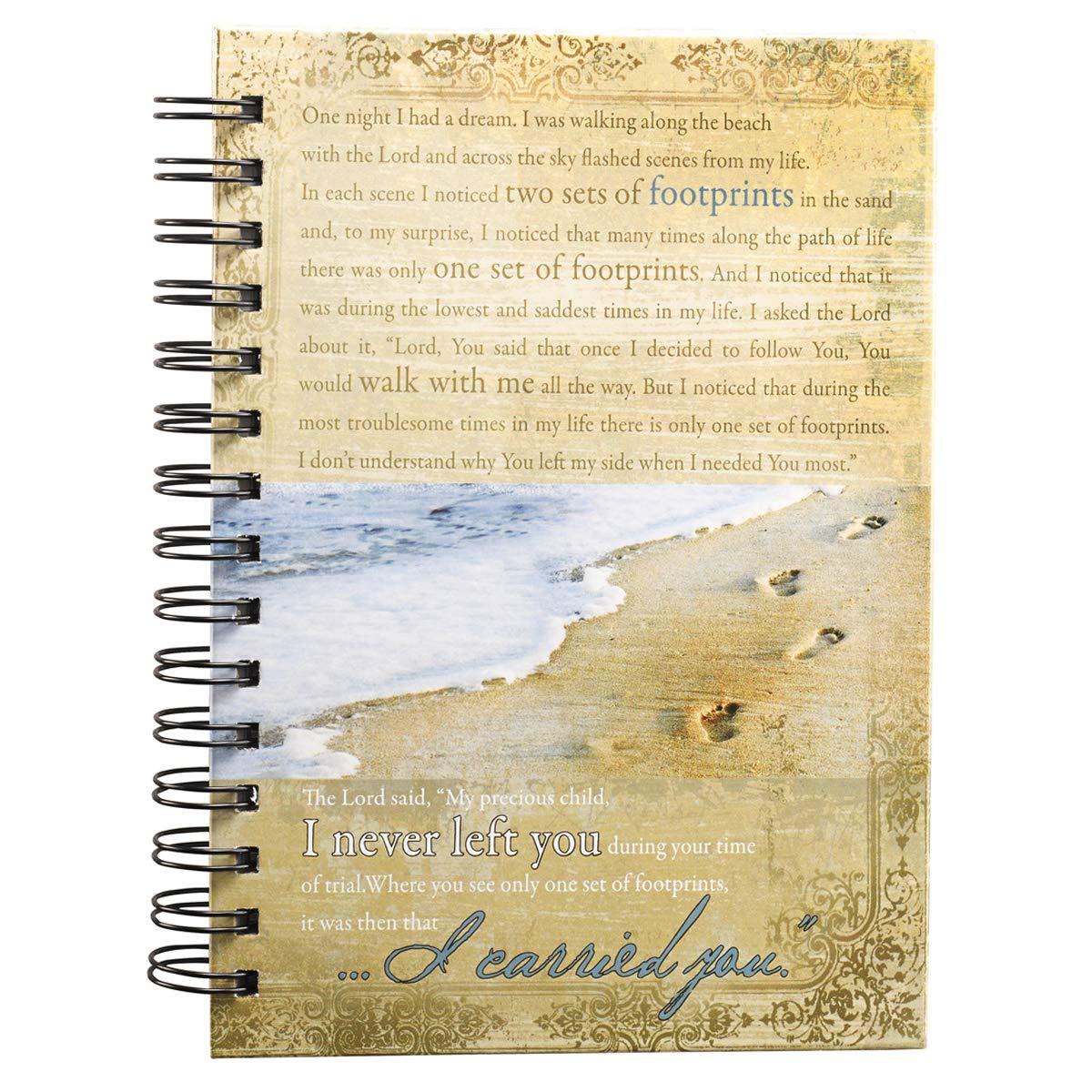 Footprints Wirebound Journal Spiral-bound – Aug 1 2009 Christian Art Gifts 1770362533 Non-Classifiable Blank Books/Journals