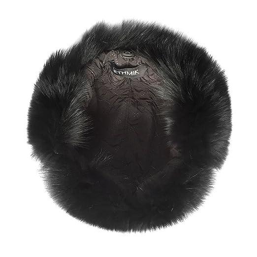 3de004543e2 lethmik Mens Trapper Hat Fox Fur Russian Ushanka Hat Trooper Winter Hats  Black at Amazon Men s Clothing store