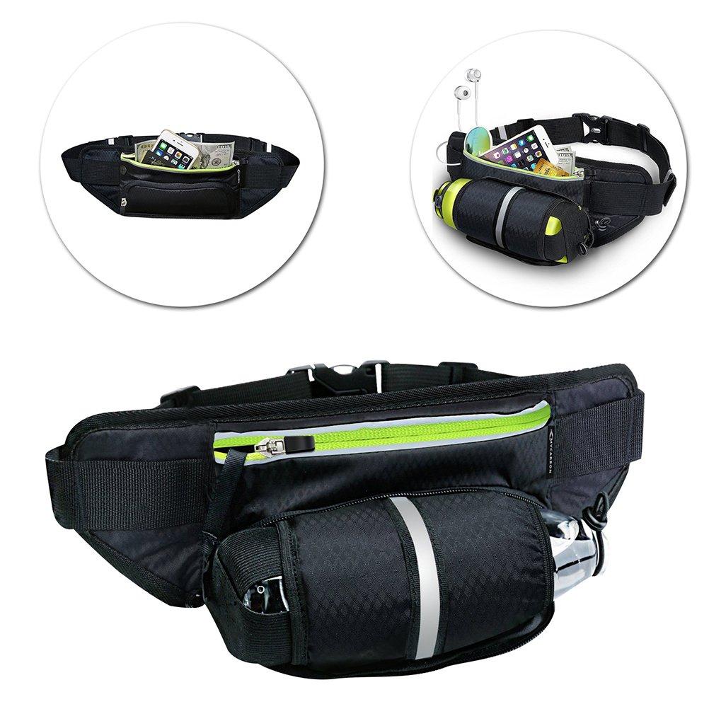 Black Men Women Waist Pack Outdoor Sports Cycling Fanny Pack Travel Marathon Running Belt Water Bottle Carrier Bag