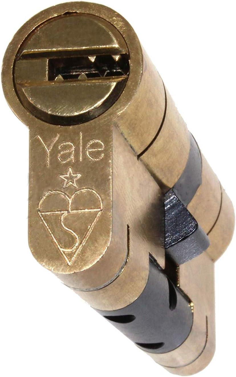 35//55/Yale sup/érieure Laiton Cylindre Euro anti Snap//Bump//main//perceuse//Pull haute s/écurit/é UPVC Composite Porte Corps Profil Lock Extra Touche Option