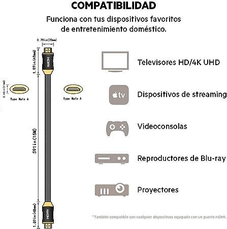 PremiumTech - Cable HDMI 2.0b Premium Certified: Amazon.es: Electrónica
