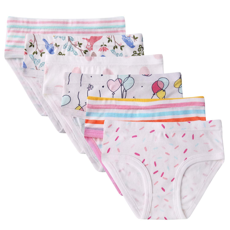 Seekay Kids Soft Cotton Panties Little Girls' Assorted Briefs(Pack of 6) 4-5 Years