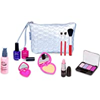 PixieCrush Pretend Play Makeup Kit. Designer Girls Hearts Bag Beauty Basics Set