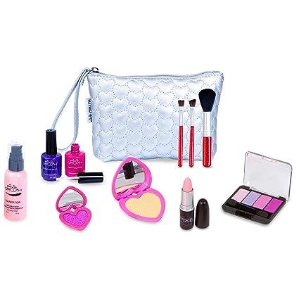d1abc0450 Amazon.com: PixieCrush Pretend Play Makeup Kit. Designer Girls Love Set  Heart Bag: Toys & Games