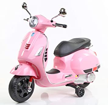 Toyhouse Vespa Rechargeable Battery Operated Ride-on Scooter for Kids(3 to 7yrs), Pink