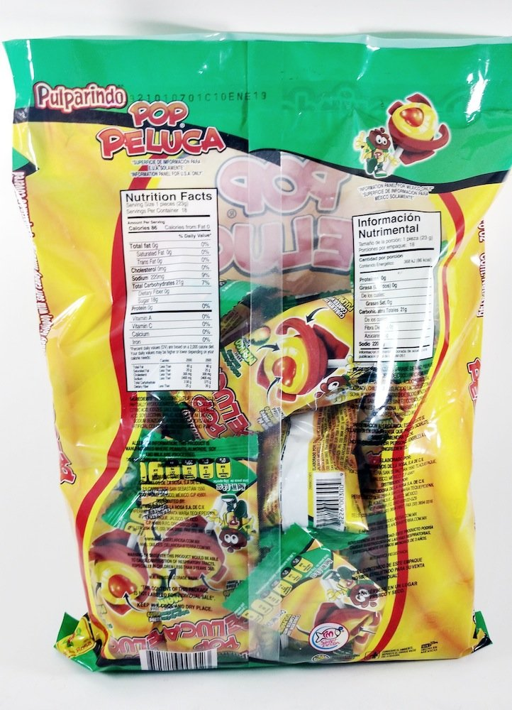Amazon.com : Bag Of Pulparindo Pop Peluca Mango Flavor Of 18 pcs Mexican Candy with Free Chocolate Kinder Bar Included : Grocery & Gourmet Food