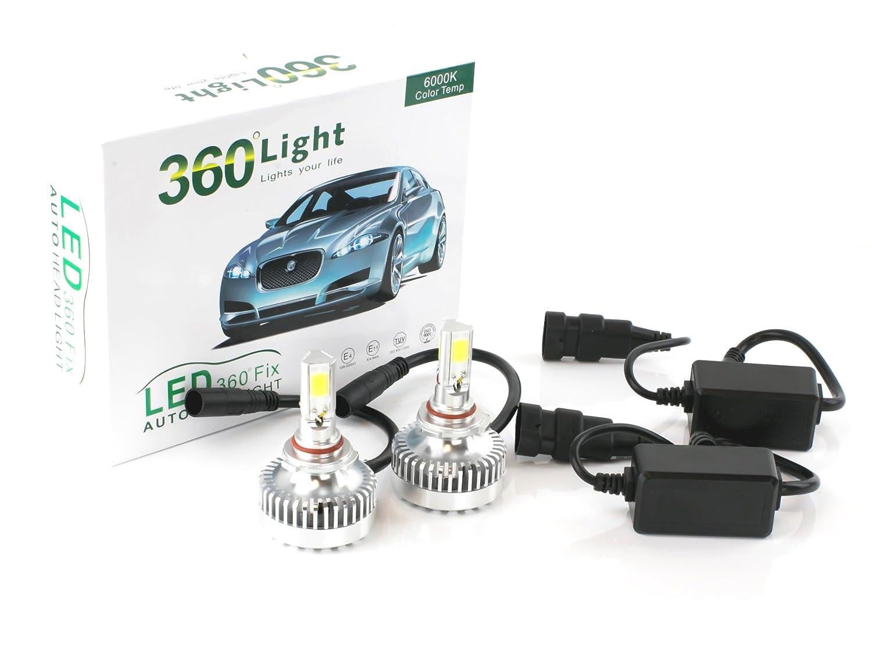 Amazon Jlm 360 9006hb4 6000kcoolwhite Led Headlight