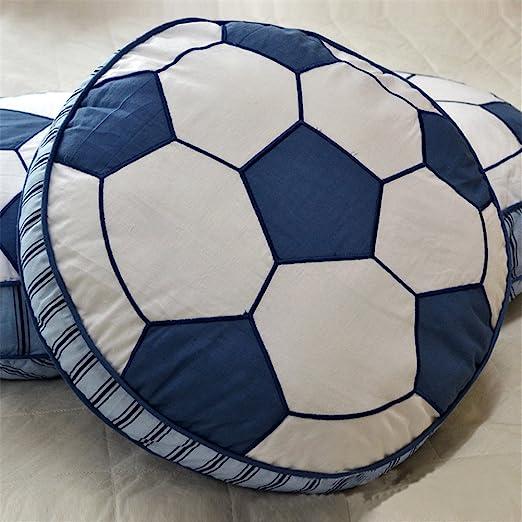 Simonshop 100% algodón diseño de balones de fútbol Deportes Manta Almohadas Suave sofá cojín para los niños habitación decoración: Amazon.es: Hogar