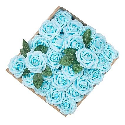 Amazon.com: Umiss Dinopure Wedding Bouquet 50pcs Artificial Flowers ...
