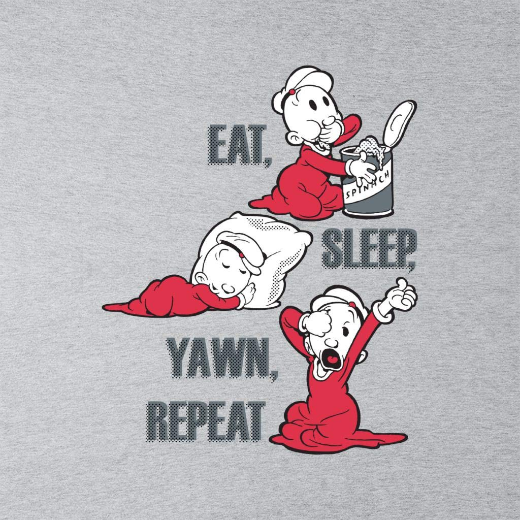 Comics Kingdom Popeye SweePea Eat Sleep Yawn Repeat Kids T-Shirt
