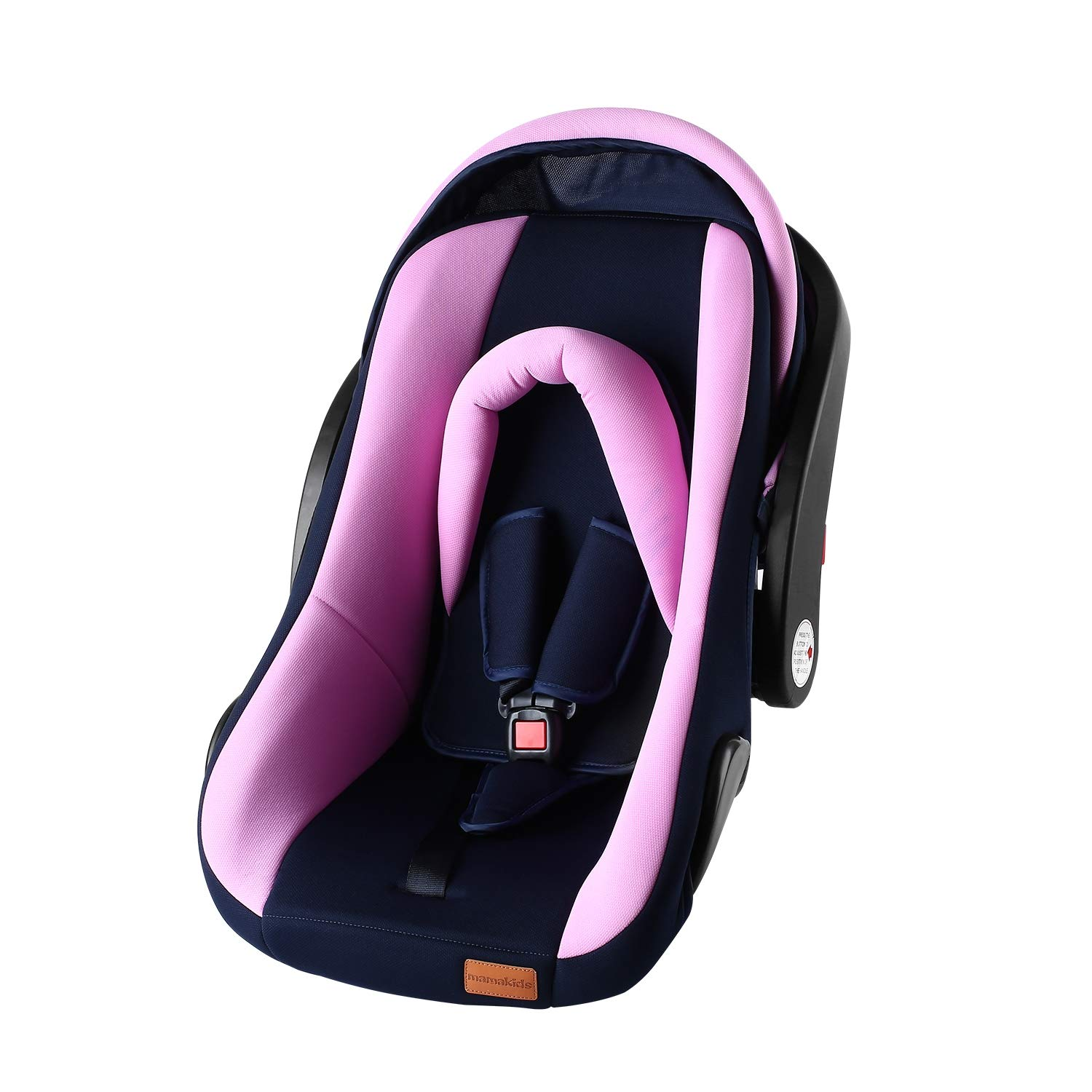 0-9 Months Breathable Children 3 in 1 Car Safety Seat Basket Rocking Chair with Head Cover Three-Point Seat Belt